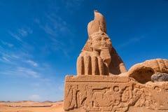 Sfinx van Wadi El Seboua Stock Afbeeldingen