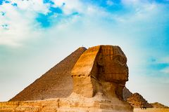Sfinxen i Kairo, Egypten Royaltyfria Foton