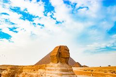 Sfinxen i Kairo, Egypten Arkivbilder
