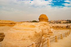 Sfinxen i Kairo, Egypten Royaltyfria Bilder