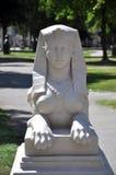 Sfinxs雕象在奥西耶克,克罗地亚 免版税库存照片