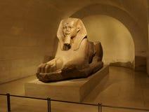 Sfinxstandbeeld bij Louvre Royalty-vrije Stock Afbeelding