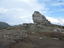 Sfinxul - The Sphinx. Travel to Romania on Bucegi Mountains Royalty Free Stock Images