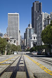 sfo陡峭的街道 免版税库存照片