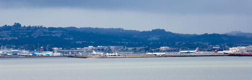 SFO Σαν Φρανσίσκο διεθνές Στοκ φωτογραφία με δικαίωμα ελεύθερης χρήσης
