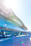 SFO Aiport terminal internacional Front High Key V Imagem de Stock