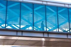 SFO, San Francisco International airport - passenger on overhead Stock Photos