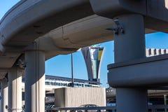 SFO, vue extérieure d'aéroport de San Francisco International Photos libres de droits