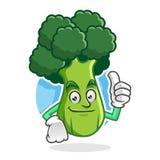 Sfogli sui broccoli la mascotte, il carattere dei broccoli, fumetto dei broccoli Fotografia Stock