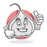 Sfogli sulla mascotte dell'aglio, il carattere dell'aglio, fumetto dell'aglio Immagini Stock Libere da Diritti