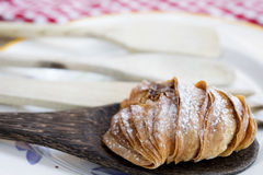 Sfogliatella filled with ricotta and candied fruit Stock Images