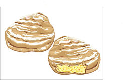 Sfogliatella napolitain doux Images stock