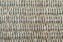 Sfondo naturale, canestro della corda tessuta della fibra immagine stock libera da diritti