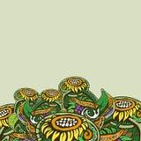 Sfondo naturale decorativo simmetrico dei colori caldi Fotografie Stock