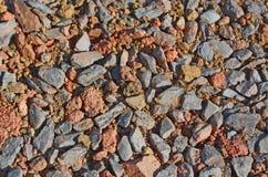 Sfondo naturale di ghiaia Fotografia Stock Libera da Diritti