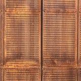 Sfondo naturale perforato del piatto d'ottone Immagini Stock Libere da Diritti