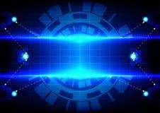 Sfortuna astratta del cerchio e tecnologia blu-chiaro di effetto Fotografie Stock Libere da Diritti