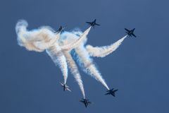 Sfortuna di angeli blu immagini stock