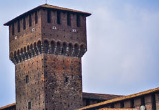 Sforza城堡在米兰,细节 图库摄影