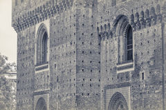 Sforza城堡在米兰,细节 库存照片
