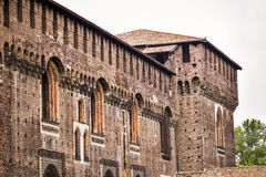 Sforza城堡在米兰,细节 免版税库存图片