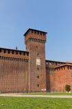 Sforza城堡开胃菜塔Bona (XV c ) 在米兰,意大利 免版税库存图片