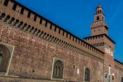 Sforza城堡,米兰,伦巴第,米兰,北意大利 免版税库存照片