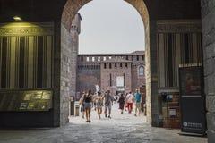 sforza милана Италии замока Стоковая Фотография