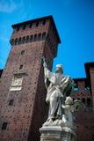 sforza милана Италии замока стоковые фотографии rf