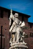 sforza милана Италии замока стоковое изображение rf