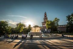 Sforza Castel в милане, Италии Стоковая Фотография RF