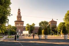 Sforza Castel в милане, Италии Стоковые Фото