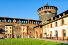 Sforza Castel in Milan, Italy Royalty Free Stock Photography