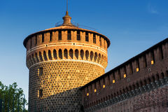 Sforza Castel in Milan, Italy Royalty Free Stock Images