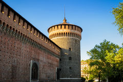 Sforza Castel in Milan, Italy Stock Photography