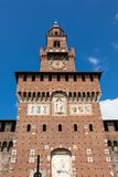 Sforza-castello Schloss in Mailand-Stadt in Italien Stockfotos