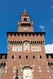Sforza castelloslott i den Milan staden i Italien Arkivfoton