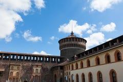 Sforza castelloslott i den Milan staden i Italien Arkivbild