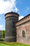 Sforza castelloslott i den Milan staden i Italien Royaltyfri Foto