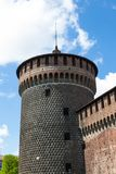 Sforza castelloslott i den Milan staden i Italien Royaltyfria Bilder