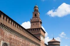 Sforza castelloslott i den Milan staden i Italien Royaltyfri Bild