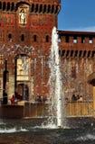 Sforza Castle. A detail of the Sforza Castle in Milan royalty free stock photos