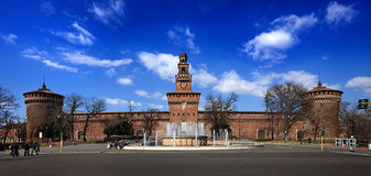 Sforza Castle. Is a castle in Milan, Italy stock photo
