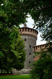 Sforza Castle. A picture of Sforza Castle stock photography