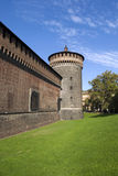 The Sforza castle Stock Photos
