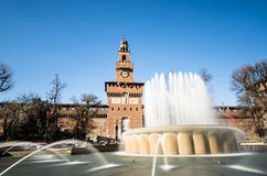 Sforza castle. Front view of the famous sforza castle in Milan stock images