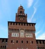 Sforza Castle -Castello Sforzesco-, a castle in Milan, Italy. Stock Photos