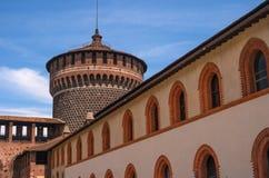 Sforza Castle -Castello Sforzesco-. Milan, Italy. Royalty Free Stock Images