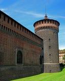 Sforza Castle -Castello Sforzesco-. Milan, Italy. Stock Photo