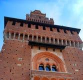 Sforza Castle -Castello Sforzesco-. Milan, Italy. Royalty Free Stock Image